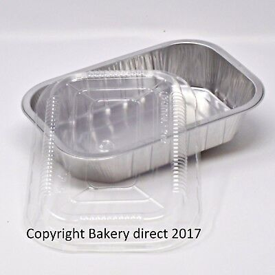Bakery Direct Aluminium Foil Tin Strong Food Container Baking Tray Loaf Dish