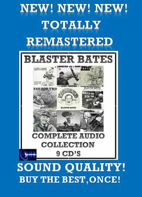Blaster Bates Complete 9 Volume LP Collection 9 x CD's Comedy