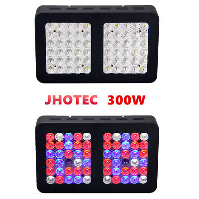 300W LED Grow Light Dimmable Full Spectrum Hydroponics For Indoor Veg Flowers US