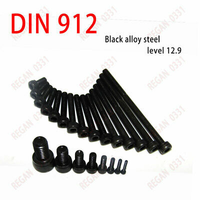 M6 M8 M10 Metric Hex Socket Cap Head Cap Screw Bolt Black Alloy Steel DIN912