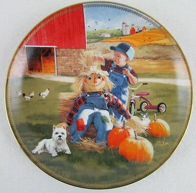 Donald Zolan Puppy Pals Decorative Plate A Little Off The Top
