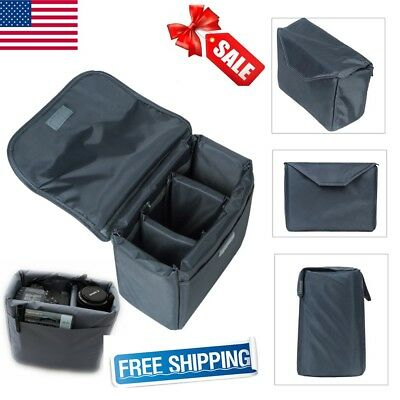 SLR Camera Insert Case Protective Bag Cover Waterproof Shockproof Travel Bags