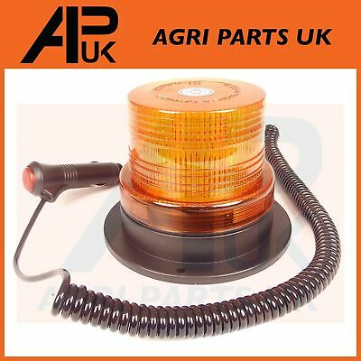 12V 24V LED Magnetic Flashing Amber Beacon Lorry Car Van Tractor Forklift Digger