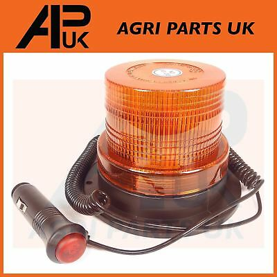 LED Magnetic Bolt on Flashing Amber Warning Beacon Car Van Lorry 4x4 Truck 12V