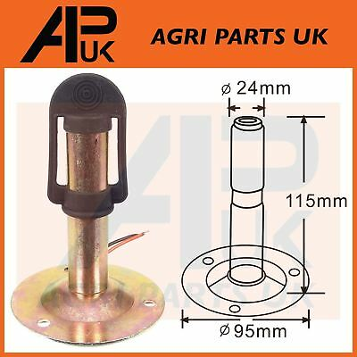 Flashing LED Amber Beacon Mount DIN Pole Bracket Tractor Mounting Holder Socket