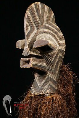 "Tall Songye Kifwebe Mask 46.5"" - DR Congo"