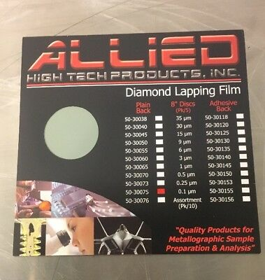 ALLIED HIGH TECH PRODUCTS 50-30075 Diamond Lapping Film