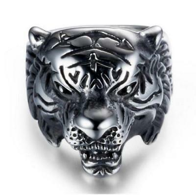 Bague Homme Chevaliere Tete De Tigre Eyes Of The Tiger Rocky Mode Swag Cadeau