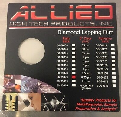 ALLIED HIGH TECH PRODUCTS 50-30073 Diamond Lapping Film