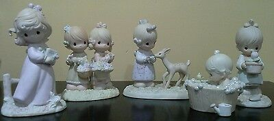 Lot of 5 Precious Moments Figurines 1984 - 1987