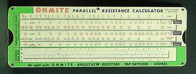 * 1949 Ohmite Parallel Resistance Calculator & Ohm's Law * Vintage Engineering
