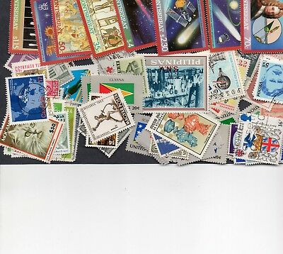100 Different Worldwide Stamps With No Common $2.00 (See Details)