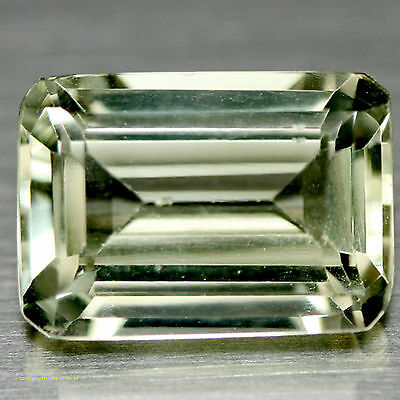 5.68 Ct Aaa! Natural! Green Uruguay Amethyst Octagon