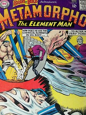 The Brave and the Bold #57 (Dec 1964-Jan 1965, DC) 1st Metamorpho