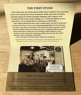 2013 Starbucks Card Pike Place Market Seattle With Sleeves New Mint