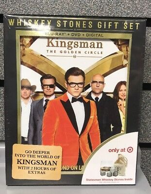 Kingsman: The Golden Circle w/ Gift Set | Blu-Ray/DVD/Digital | New | Ships Fast
