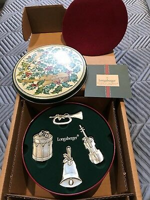Longaberger Sounds of the Season Ornaments and Tin - NIB - Free Shipping!