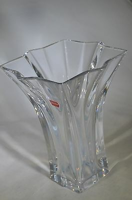 """Baccarat FRENCH Crystal Clear 8"""" tall vase Art Glass"""