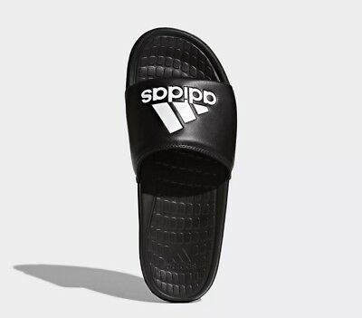 quite nice 4d393 02415 Mens Adidas Voloomix Athletic Sandals Slides Flip Flops Black White Size 12  New