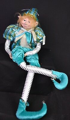 Christmas Elf 60cm with Bendable arms and legs. Teal