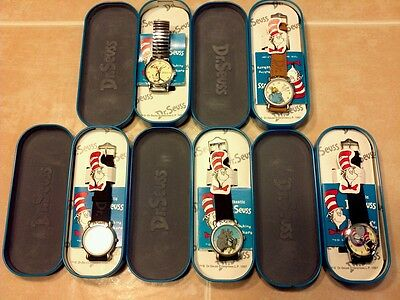 Great Dr. SEUSS Watch LOT (5) nice watches all in the original packaging