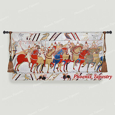 "Bayeux-I Medieval Old World Tapestry Wall Hanging, Cotton 100%, 55""x31"", UK"
