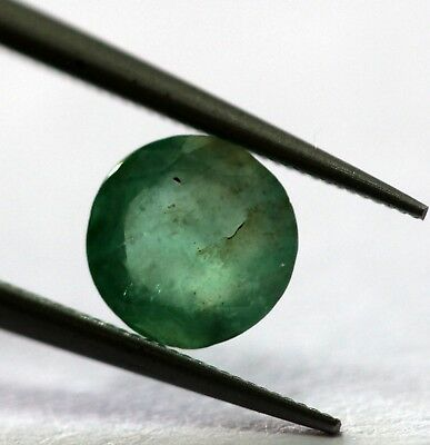 Untreated Unheated 0.65 Ct Natural Emerald Deep Green Color Round Cut Gemstone