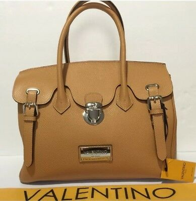 New with tag Valentino by Mario Valentino Satchel Bag. Camel color. 1000  retail 11b93f55ef6