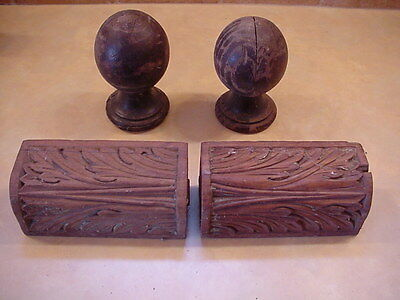 Antique Salvaged Wood Decor Pieces, Lot of 4