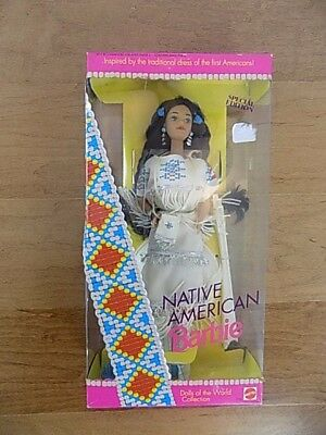 Native American Barbie Matte #1753 Dolls of the World Collection 1992 NEW in Box