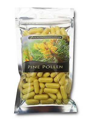 Pine Pollen 300mg ( 99% Cracked Cell Wall ), 30 - 90 Vegetarian Capsules