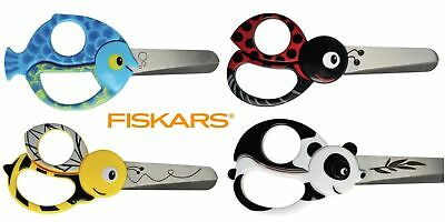 Kids Scissors 13cm Animal Scissors By FISKARS - Blunt Tips and Thick edge