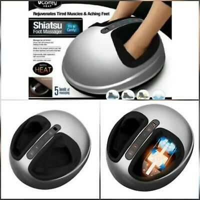 uComfy Shiatsu 2.0 Foot Massager With Heat and Air Compression Grey