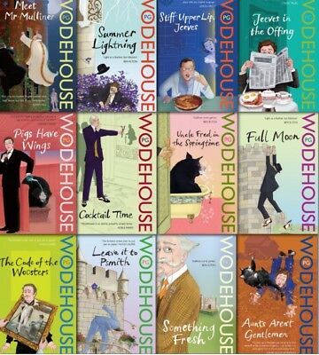 JEEVES AND WOOSTER 17 AUDIO BOOK COLLECTION 5 x MP 3 CD's P G WODEHOUSE talking