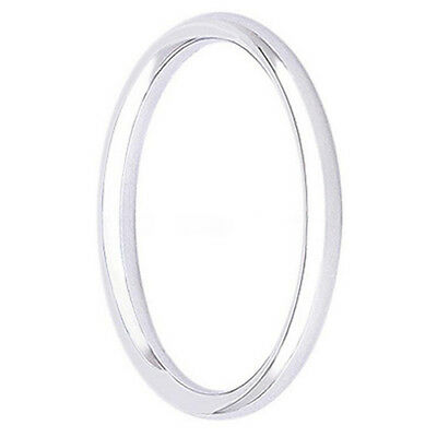 Sample Width 2mm Unisex Stainless Steel Comfort Fit Plain Wedding Band Ring New