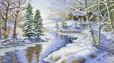 "DIMENSIONS GOLD ""ALL IS CALM""CROSS STITCH KIT  Kreuzstich-Stickpackung 40x23 CM"
