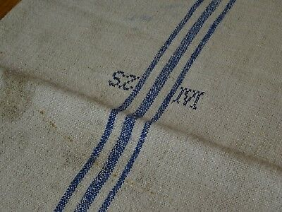 Antique European Feed Sack GRAIN SACK SZM Monogram # 9338