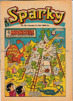 Christmas SPARKY Dec.31st 1966 # 102 comic issue