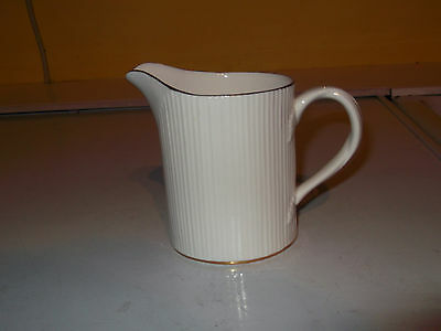 Crown Staffordshire Milk Jug  In Golden Glory Pattern   Ribbed Sides Gold Trim