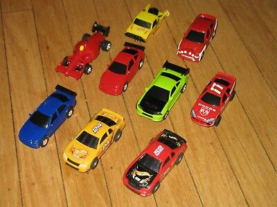 Slotcar Lot Of 9 Bodies & 8 Chassis Artin Hot Wheels And Others 1/43 Scale