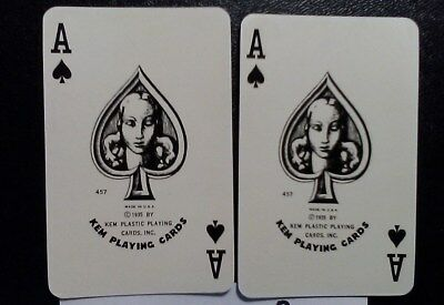 Vintage KEM Ace of Spades Swap Cards Playing Cards lot of 2 Horoscope Design