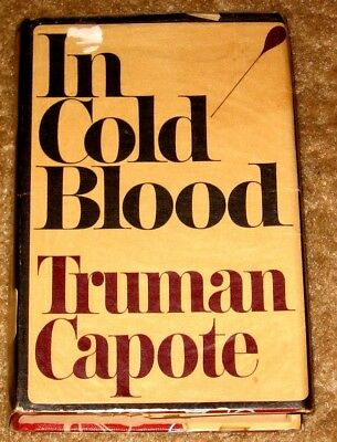 Vintage In Cold Blood By Truman Capote Hb/Dj 5Th Printing 1965 Ed Great Book