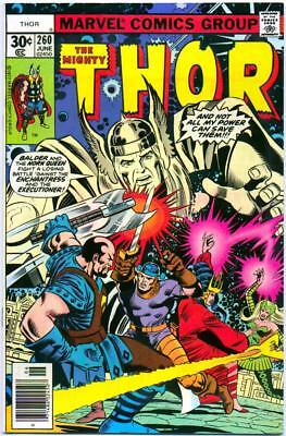 Thor 260 Vf+ 8.5 High Grade Walt Simonson Enchantress Marvel Bronze Age 1976 Nr