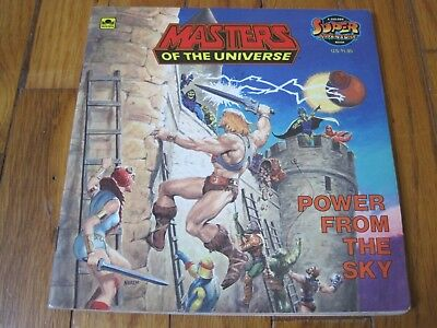 Masters of the Universe Power From The Sky Book Golden Super Adventure He-Man