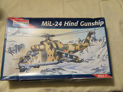 1995 Model Kit Monogram Mil-24 Hind Gunship # 5819 New in an Open Box