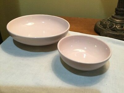 """Iroquois Russel Wright, Casual Pink. Two Bowls, 8"""" & 5-1/4"""""""