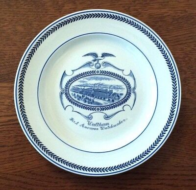"RARE Antique (1904) Wedgwood Plate ""Waltham First American Watchmaker"" 8.75"""