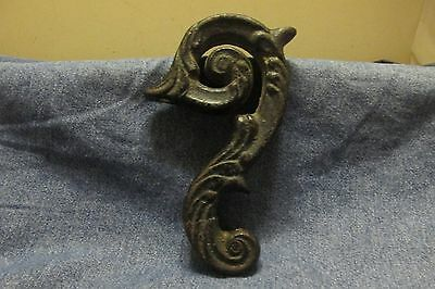1800's Victorian Architectural Antique Maybe Nautical Cast Iron Scroll Ornament