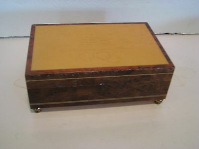 Wooden Music Box Sorrento Italy  Reuge Sunrise Sunset 6 X 4 In Doesnt Play Right