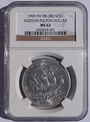 1909 NY Hudson-Fulton Dollar SC$1- HK-385 - NGC MS62 - So-Called Dollar